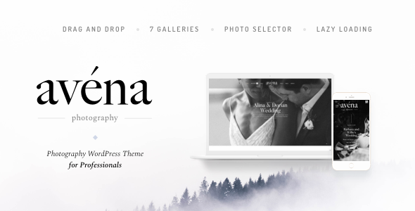 Wordpress Kreativ Template Avena - Photography WordPress for Professionals