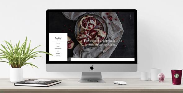 Wordpress Entertainment Template Berghoef - Contemporary WordPress Theme