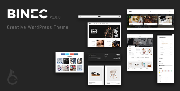 Wordpress Shop Template Binec - Creative WordPress WooCommerce Theme