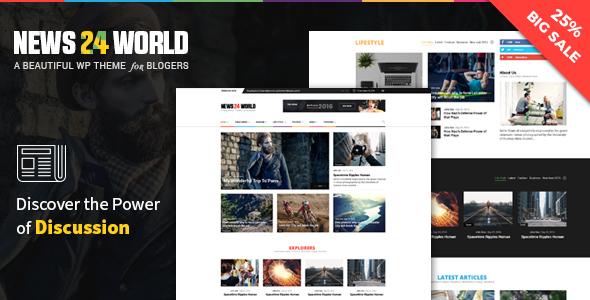 Wordpress Blog Template Blog Magazine Newspaper WordPress