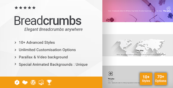 Wordpress Add-On Plugin Breadcrumbs Addon for WPBakery Page Builder (formerly Visual Composer)