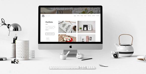 Wordpress Kreativ Template Bushwick Lightweight Minimal Theme