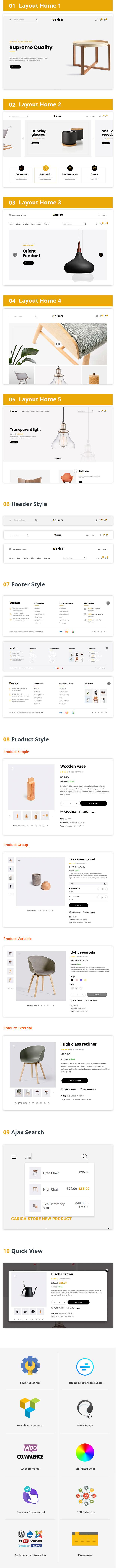 Wordpress Shop Template Carica - Furniture Handmade WooCommerce Theme