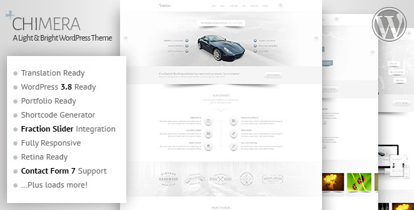 Wordpress Kreativ Template Chimera - A Light, Bright WordPress Theme