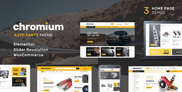 Wordpress Shop Template Chromium - Auto Parts Shop WordPress WooCommerce Theme