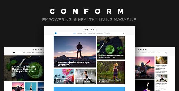 Wordpress Blog Template Con Form - Healthy Lifestyle Magazine Theme