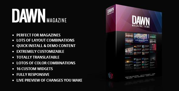 Wordpress Blog Template Dawn Magazine Theme