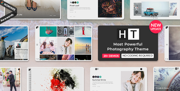 Wordpress Kreativ Template The Halftoon | Multipurpose Photography WordPress Theme