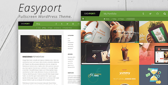 Wordpress Kreativ Template Easyport - Fullscreen Portfolio Theme