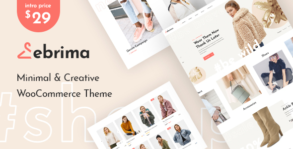 Wordpress Shop Template Ebrima - Minimal & Creative WooCommerce WP Theme