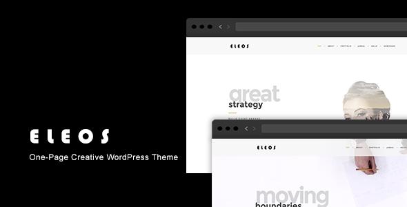 Wordpress Kreativ Template Eleos - One-Page Creative WordPress Theme