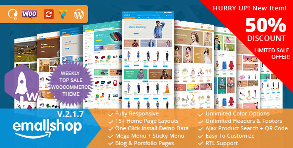 Wordpress Shop Template EmallShop - Responsive WooCommerce WordPress Theme