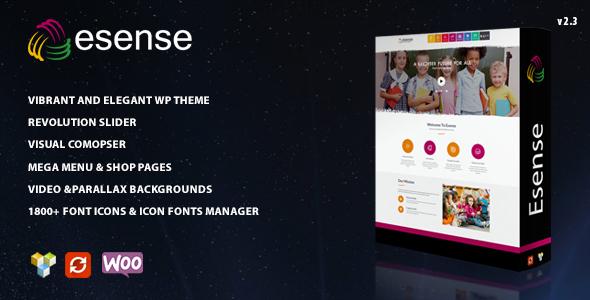 Wordpress Kreativ Template Esense - Vibrant and elegant WP theme