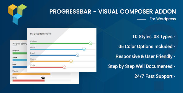 Wordpress Add-On Plugin Advance Progress Bar For Visual Composer