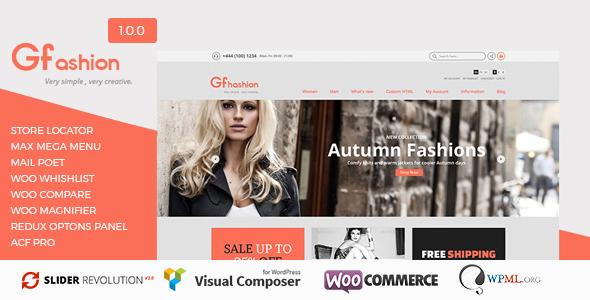 Wordpress Shop Template GFashion Woocommerce Store