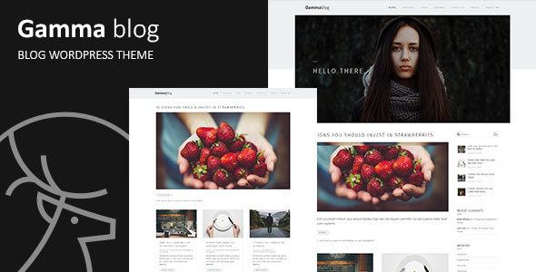 Wordpress Blog Template Gamma-blog - Modern WordPress Blog Theme