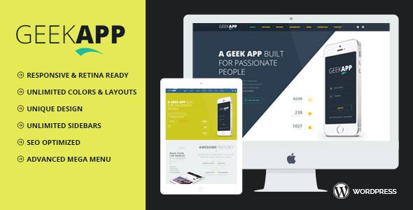 Wordpress Kreativ Template GeekApp - Creative WordPress Theme