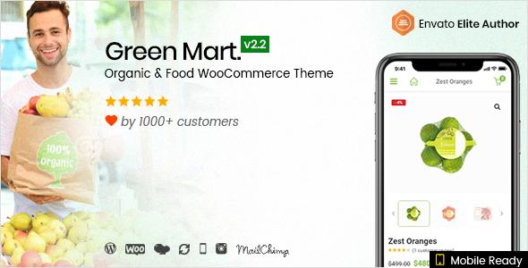 Wordpress Shop Template GreenMart – Organic & Food WooCommerce WordPress Theme