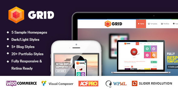 Wordpress Kreativ Template Grid – WordPress Responsive Agency Portfolio Theme
