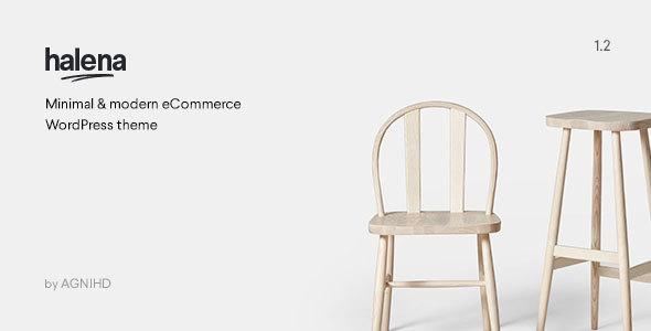 Wordpress Shop Template Halena | Minimal & Modern eCommerce WordPress Theme