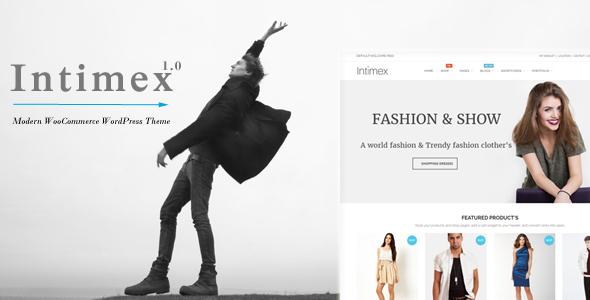 Wordpress Shop Template Intimex - Modern WooCommerce WordPress Theme