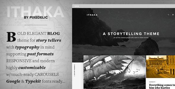Wordpress Blog Template Ithaka Responsive WordPress Blog Theme