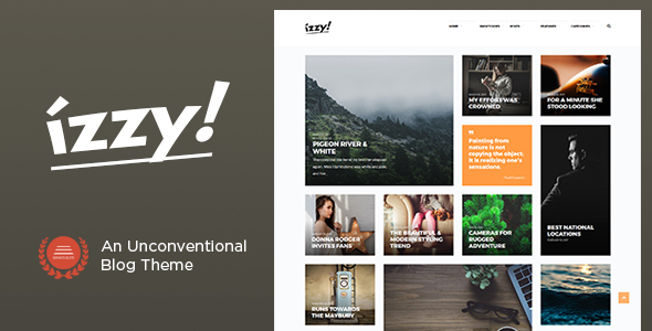 Wordpress Blog Template Izzy - An Unconventional Blog Theme