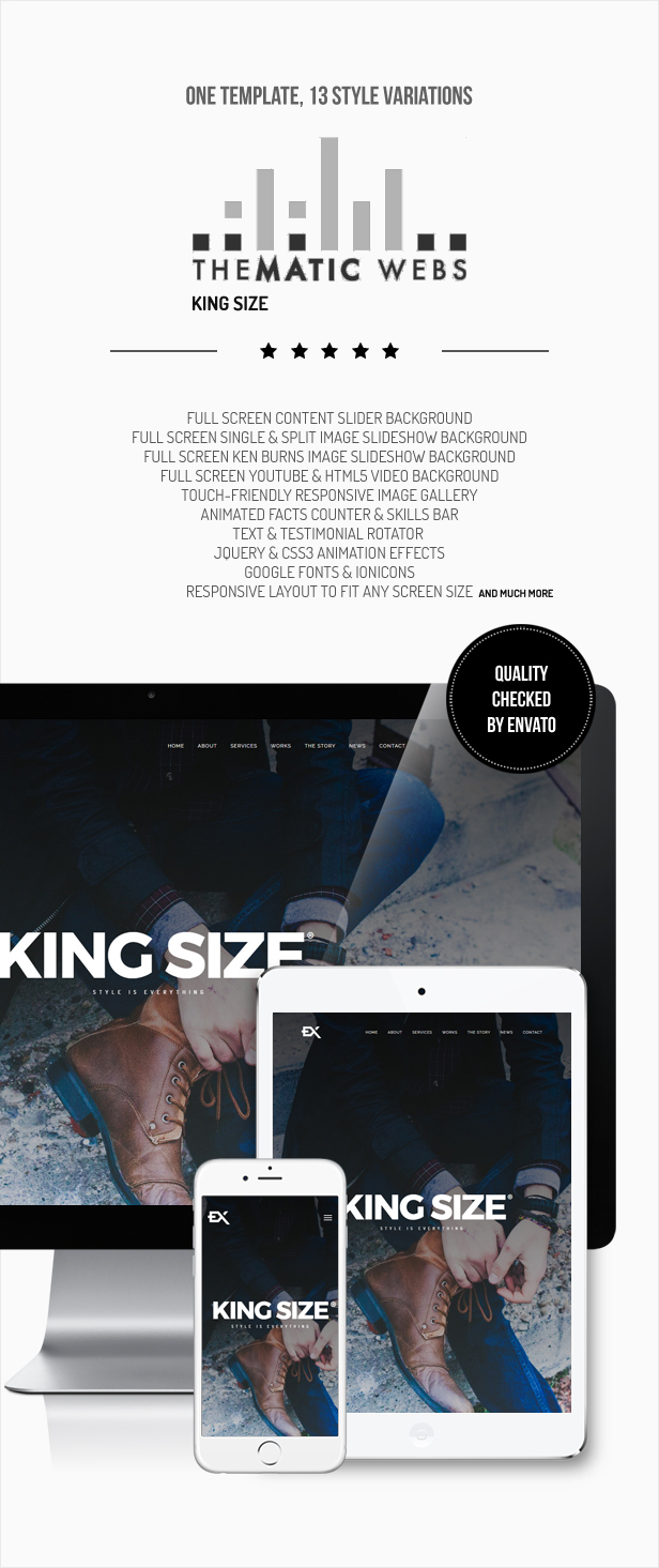 Wordpress Kreativ Template King Size || Creative Portfolio WordPress Theme