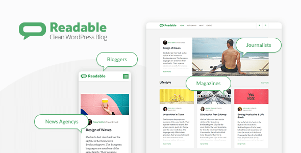 Wordpress Blog Template Readable - Blogging WordPress Theme Focused on Readability