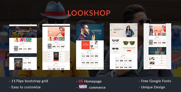 Wordpress Shop Template Lookshop - Responsive WooCommerce WordPress Theme
