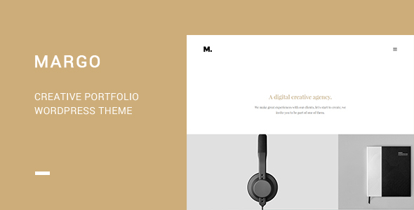 Wordpress Kreativ Template Margo - Creative Portfolio WordPress Theme