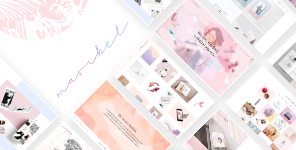Wordpress Kreativ Template Maribel - Alluring Portfolio Theme for Creatives
