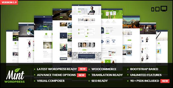 Wordpress Corporate Template Mint - Responsive Multi-Purpose WordPress Theme