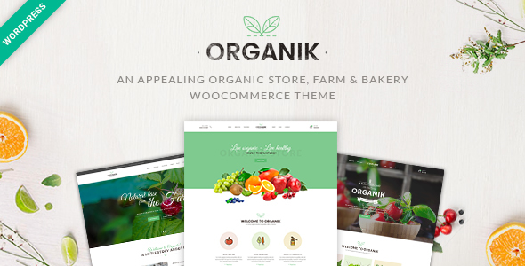 Wordpress Shop Template Organic Food Organik - Organic Food Store Organic Food Farm WP Theme