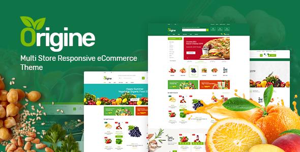 Wordpress Shop Template Origine - Organic Theme for WooCommerce WordPress