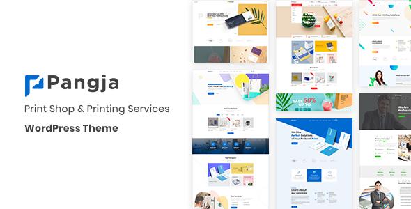Wordpress Shop Template Pangja - Print Shop & Printing Services WordPress theme