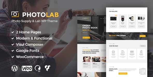 Wordpress Kreativ Template PhotoLab   A Trendy Photo Company & Photo Supply Store WordPress Theme