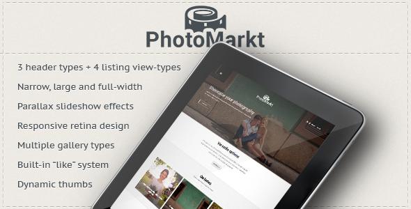 Wordpress Kreativ Template PhotoMarkt - Photography eCommerce Theme