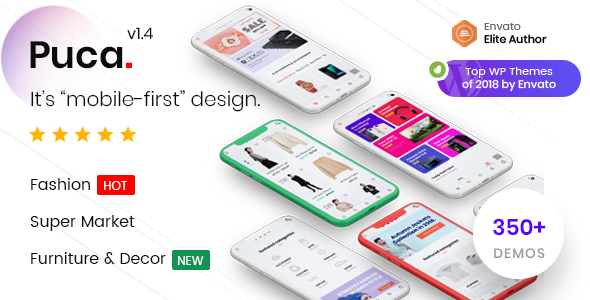 Wordpress Shop Template Puca - Optimized Mobile WooCommerce Theme