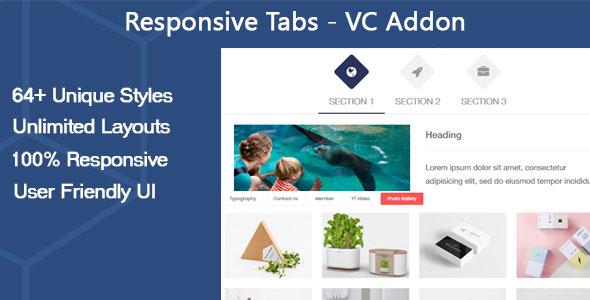 Wordpress Add-On Plugin Responsive Tabs - VC Addon
