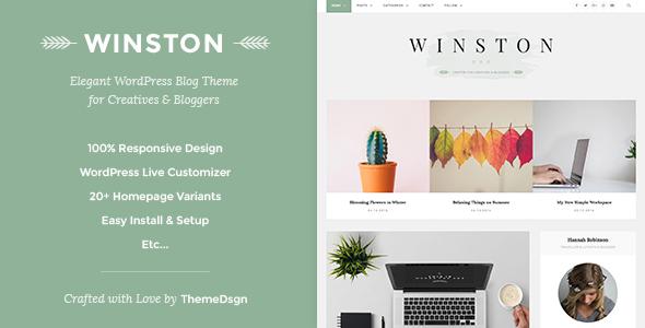Wordpress Blog Template Responsive WordPress Blog Theme - Winston