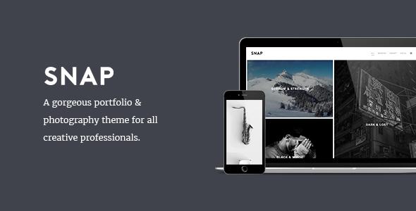 Wordpress Kreativ Template SNAP - Creative Portfolio / Photography WordPress Theme
