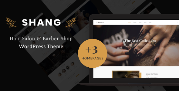 Wordpress Shop Template Shang - Hair Salon & Barber Shop WordPress theme