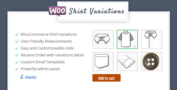 Wordpress E-Commerce Plugin Shirt Designer - WooCommerce Plugin for Variations