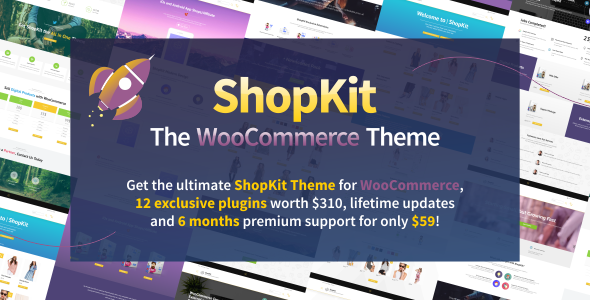 Wordpress Shop Template ShopKit - The WooCommerce Theme