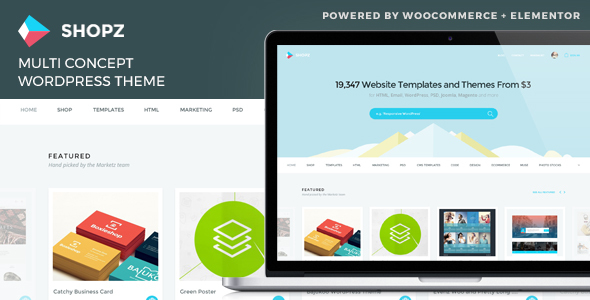 Wordpress Shop Template Shopz - eCommerce WordPress Theme