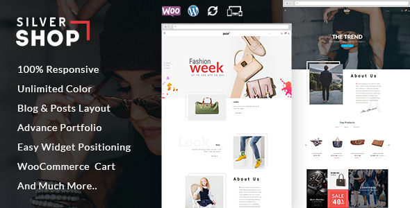 Wordpress Shop Template Silver Shop - Multipurpose WooCommerce Theme