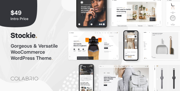 Wordpress Shop Template Stockie - Multi-purpose Creative WooCommerce Theme