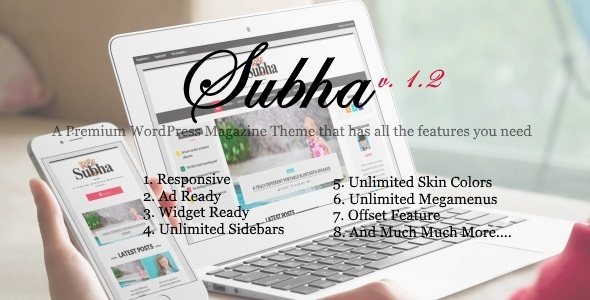 Wordpress Blog Template Subha - A Premium Newspaper Magazine WordPress Theme