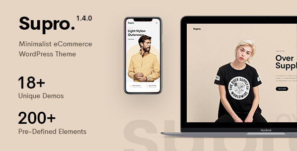 Wordpress Shop Template Supro - Minimalist AJAX WooCommerce WordPress Theme